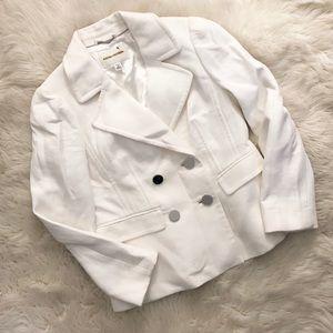 Banana Republic White Blazer Pea Coat Jacket